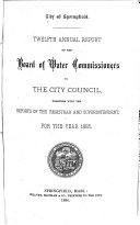 Annual Report of the Board of Water Commissioners to the City Council