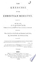 The Exercise of the Christian Ministry ... Translated from the French ... with Notes by J. Sutcliffe