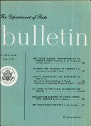 The Department Of State Bulletin Vol  XXVII No 693