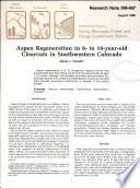 Aspen Regeneration in 6  to 10 year old Clearcuts in Southwestern Colorado