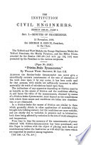 Minutes Of Proceedings Of The Institution Of Civil Engineers