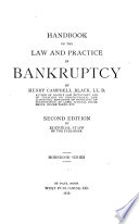 Handbook of the law and practice in bankruptcy
