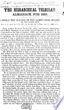 Behold the Hierarchical Telegram Almanack for 1859  Behold the opening of the Lamb s Book of Life by the noble Lion