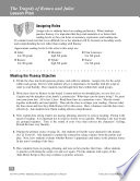 The Tragedy of Romeo and Juliet  Reader s Theater Script   Fluency Lesson