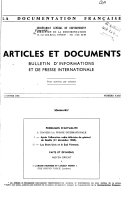Articles et documents