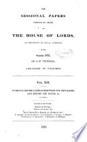 Evidence Before Lords Committees for Privileges and Before the House  c