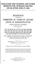 Education and Training and Other Benefits for Veterans Serving on Or After June 27  1950