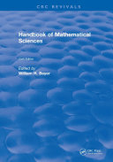 Handbook of Mathematical Science Pdf/ePub eBook