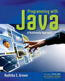 Programming with Java: A Multimedia Approach