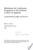 Mediation   Conference Programs in the Federal Courts of Appeals