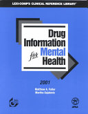 Drug Information for Mental Health 2001 Book