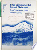 Shasta-Trinity National Forest (N.F.), Mt.Shasta Ski Area Development Plan