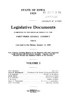 Legislative Documents Compiled By Order Of The General Assembly