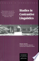 Studies in Contrastive Linguistics