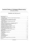 Yearbook   Lamont Doherty Geological Observatory of Columbia University