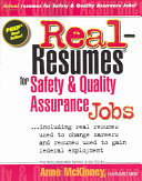 Real-resumes for Safety and Quality Assurance Jobs