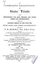 A Complete Collection of State Trials and Proceedings for High Treason and Other Crimes and Misdemeanors from the Earliest Period to the Year 1783, with Notes and Other Illustrations Pdf/ePub eBook