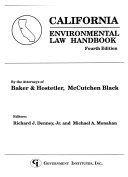 California Environmental Law Handbook Book PDF