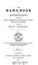 The Hand-book of Astrology