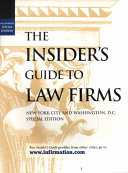 The Insider's Guide to Law Firms