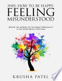 Infj  How to Be Happy  Feeling Misunderstood