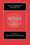 The Cambridge History Of Russia Volume 3 The Twentieth Century