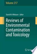 Reviews Of Environmental Contamination And Toxicology Book PDF