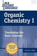 Cover of Organic chemistry as a second language
