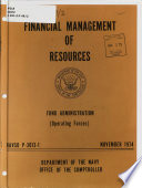 Financial Management of Resources: Fund Administration (operating Forces) ; Operating Procedures (operating Forces) November 1974: Fund administration (operating forces)