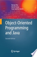 Object Oriented Programming and Java