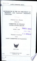 Background on the Tax Treatment of Property and Casualty Insurance Companies