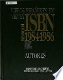 Libros españoles en venta, ISBN  , Band 1