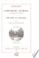 Contarini Fleming  The rise of Iskander Book