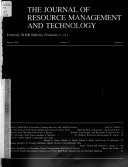 The Journal of Resource Management and Technology
