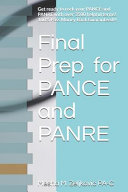 Final Prep For Pance And Panre Book PDF
