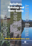 Agriculture  Hydrology  and Water Quality
