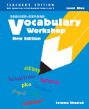 Vocabulary Workshop Level Blue (Teacher's Edition)(New Edition)
