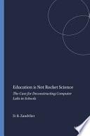 Education is Not Rocket Science