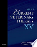 Kirk S Current Veterinary Therapy Xv E Book Book PDF