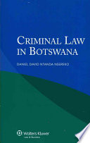 Criminal Law in Botswana