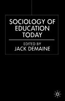 Cover of Sociology of Education Today
