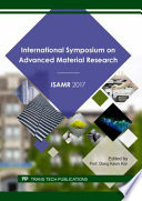 International Symposium On Advanced Material Research Book PDF
