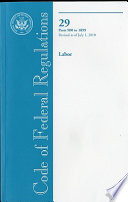Code Of Federal Regulations Title 29 Labor Pt 900 1899 Revised As Of July 1 2010 Book PDF