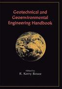 Geotechnical and Geoenvironmental Engineering Handbook Book