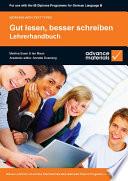Books - Gut Lesen, Besser Schreiben Lehrerhandbuch | ISBN 9780955926518