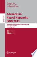Advances in Neural Networks- ISNN 2013