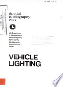 Vehicle Lighting Special Bibliography