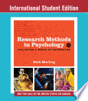 Cover of Research Methods in Psychology: Evaluating a World of Information