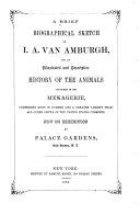A Brief Biographical Sketch of I.A. Van Amburgh