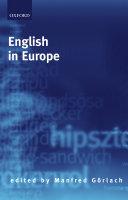 Pdf English in Europe Telecharger